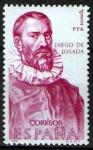 Stamps Spain -  Forjadores de America. Diego de Losada.
