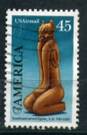 Sellos de America - Estados Unidos -  figura tallada
