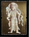 Sellos de Asia - China -  Grutas de Yungang,ofrenda de Bodhisattva