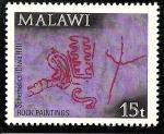 Stamps Africa - Malawi -  Arte rupestre de Chongoni