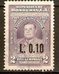Stamps Honduras -  TIBURCIO  CARIAS