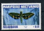 Stamps America - Nicaragua -  serie- Mariposas nocturnas