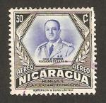 Sellos de America - Nicaragua -  homenaje a la fuerza aerea, presidente general somoza