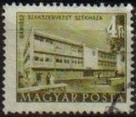 Stamps Hungary -  Hungria 1952 Scott 1010 Sello Edificios Budapest Sede Sindical Mineral usado Magyar Posta M-1241 Ung