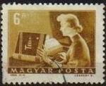Sellos de Europa - Hungría -  Hungria 1964 Scott 1526 Sello Servicio Postal Mujer Teletipista usado M-2014 Magyar Posta Ungarn Hun