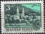 Stamps Hungary -  Hungria 1973 Scott 2198 Sello Monumentos Iglesia y Ayuntamiento Tokaj usado M-2874 Magyar Posta Unga