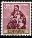 Stamps Spain -  Dia del sello. Alonso Cano.Virgen con el niño.