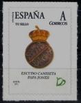 Sellos de Europa - España -  Centenario del Real Betis Balompié.Escudo de Papa Jones.