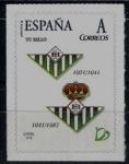 Stamps Spain -  Centenario del Real Betis Balompié.Escudos de 1931-1941 , y 1941-1957