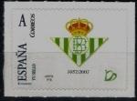 Sellos de Europa - España -  Centenario del Real Betis Balompié.Escudo actual desde 1957.