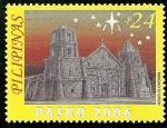 Sellos de Asia - Filipinas -  Iglesias barrocas,iglesia Miagao