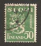 Sellos de Europa - Finlandia -  leon rampante