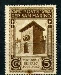 Sellos del Mundo : Europa : San_Marino : Veinte años de fascismo