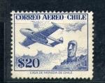 Stamps Chile -  estatua de la isla de pascua
