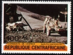 Stamps Africa - Central African Republic -  Centroafrica 1981: Apolo 15 y rover lunar