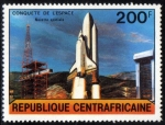 Stamps Africa - Central African Republic -  Centroafrica 1981: Despegue del shuttle