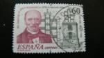 Stamps Spain -  150 aniversario linea telegráfica