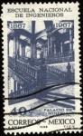 Stamps Mexico -  Escuela Nacional de Ingenieros de México. Palacio de minería.