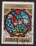 Stamps United Arab Emirates -  AJMAN - Horóscopo-Leo