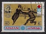 Stamps United Arab Emirates -  AJMAN - SAPPORO-72