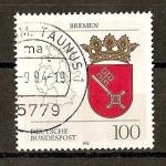 Sellos de Europa - Alemania -  Escudos de Alemania. Federal  (DBP)./ Bremen.