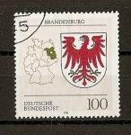 Sellos de Europa - Alemania -  Escudos de Alemania. Federal  (DBP)./Brandenburg.