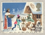 Stamps United Kingdom -  Christmas 1973  Good King Wenceslas