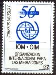 Sellos de America - Uruguay -  ORGANIZACION INTERNACIONAL PARA LAS MIGRACIONES