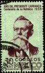 sellos de America - México -  Plan de Guadalupe. Constitución de 1917. Centenario del nacimiento de CARRANZA.