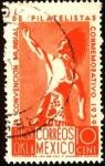 Stamps Mexico -  Estatua del Jefe Indio en Tulsa Oklahoma. Convención mundial de filatelistas.