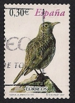 Stamps : Europe : Spain :  fLORA Y FAUNA - Alondra Ricoti