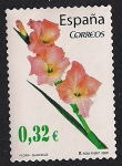 Stamps : Europe : Spain :  Flora y fauna - Gladiolo