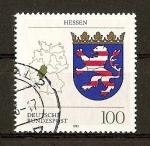 Stamps Germany -  Escudos de Alemania.Federal (DBP)./ Hessen.