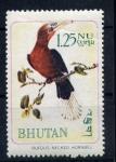 Sellos del Mundo : Asia : Bhután : rufous necked hornbill