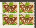 Stamps of the world : Honduras :  HYALOPHORA  CECROPIA