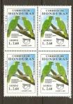 Stamps Honduras -  AMAZONA  AUROPALLIATA