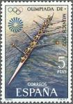 Sellos de Europa - España -  ESPAÑA 1972 2100 Sello Nuevo XX Juegos Olimpicos de Munich Remo c/señal charnela