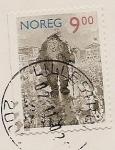 Sellos de Europa - Noruega -  Un Troll en Oslo - de las ilustraciones de Th. Kittelsen