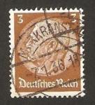 Stamps Germany -  mariscal hindenburg