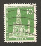 Stamps : Europe : Germany :  berlin - 129 - iglesia emperador guillermo
