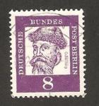 Stamps Germany -  Berlin - johannes gutenberg