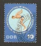 Stamps Germany -  campeonato mundial de pentahlon moderno, natacion