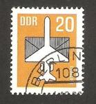 Stamps Germany -  Avión y carta