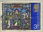 Stamps United Kingdom -  Windows in Canterbury Cathedral