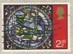 Sellos de Europa - Reino Unido -  Windows in Canterbury Cathedral