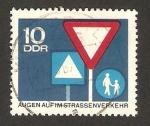 Stamps : Europe : Germany :  protección para la circulación en carreteras, señales