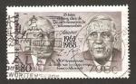 Stamps Germany -  25 anivº del tratado de la cooperacion franco-alemana, canciller adenauer y general de gaulle