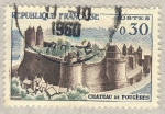 Stamps France -  Château de Fougères
