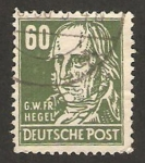 Stamps : Europe : Germany :  45 - F. Hegel