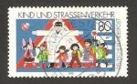 Sellos del Mundo : Europa : Alemania :  los niños y el tráfico en la carretera